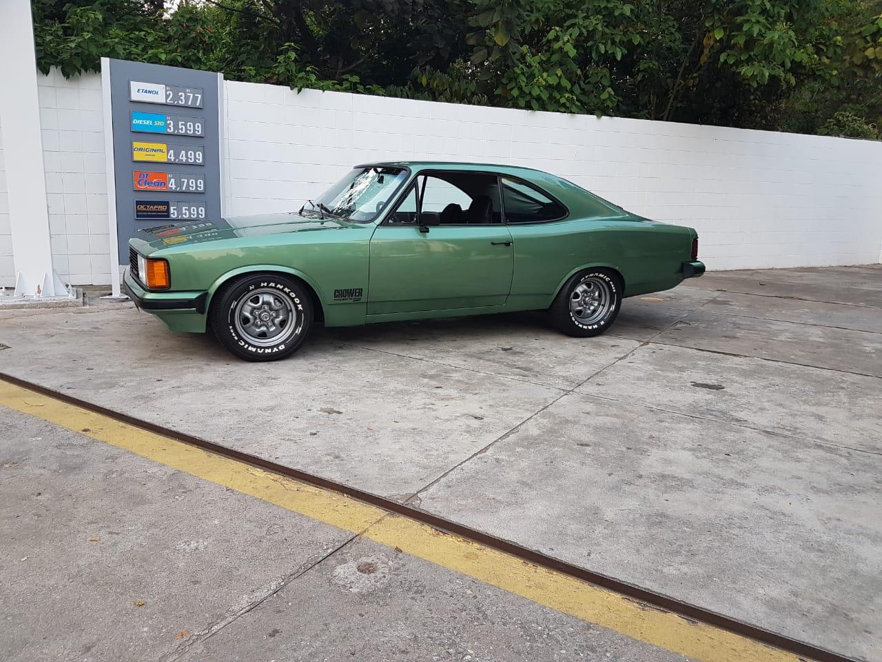 Associado Clube do Opala SP - Opala 1980 Verde Samanbaia - 6 Cilindros 4100 250-S
